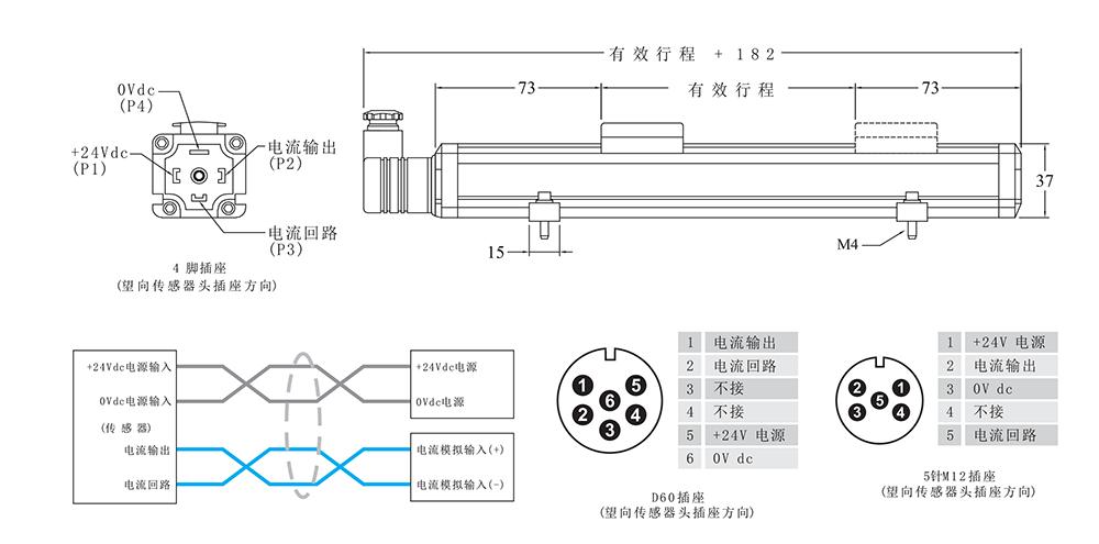 外置式磁致伸缩位移传感器